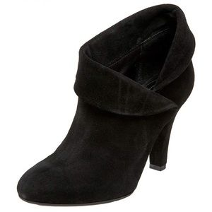 Enzo Angiolini Suede Round Toe Heeled Ankle Boot